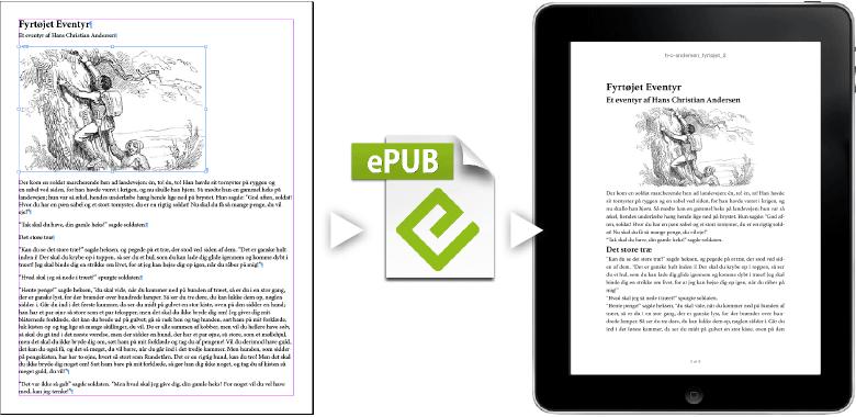 professionelt kursus med output til epub fra adobe indesign