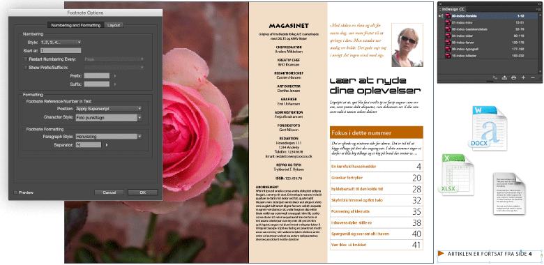 professionelt kursus i bog- og magasinproduktion med adobe indesign