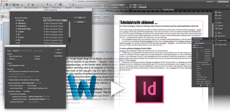 professionelt kursus i adobe indesign for tidligere word-brugere
