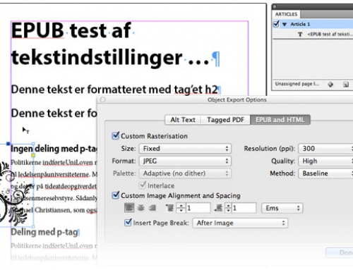 EPUB fra Adobe InDesign