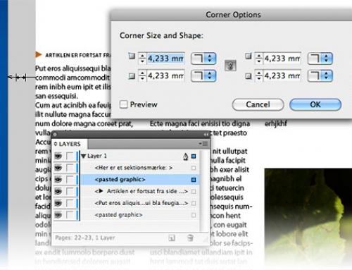 Adobe InDesign opdatering