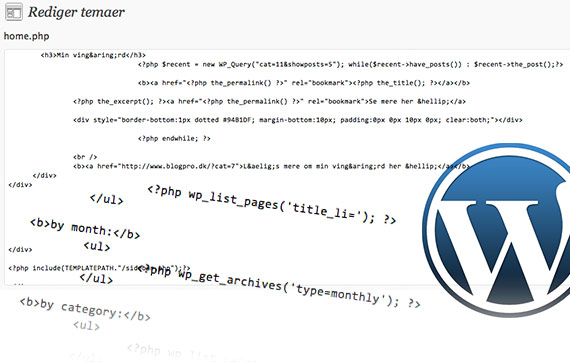 Kursus i bag om WordPress