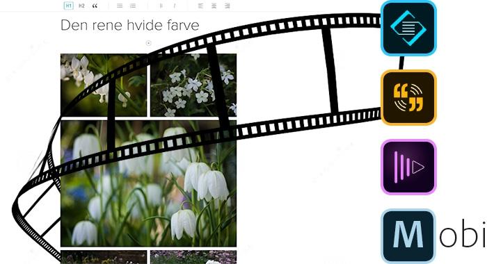 Kursus i visuel historiefortælling med Adobe Slate, Voice og Premiere Clip